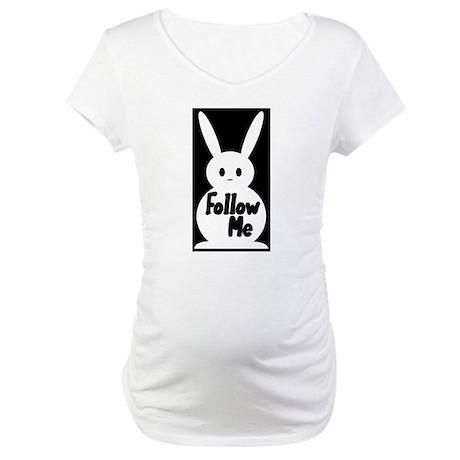 Follow Me White Rabbit Maternity T-Shirt