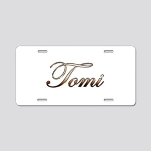 Gold Tomi Aluminum License Plate