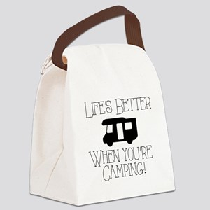 Life's Better Camping Canvas Lunch Bag
