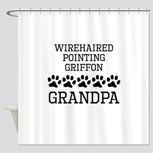 Wirehaired Pointing Griffon Grandpa Shower Curtain