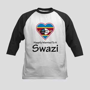 Happily Married To A Swazi Kids Baseball Jersey