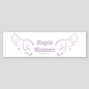 Pink Angels Unaware Bumper Sticker