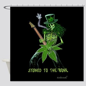 STONED TO THE BONE Shower Curtain
