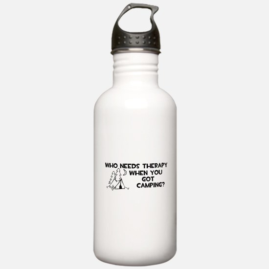 Who Needs Therapy Camping Water Bottle