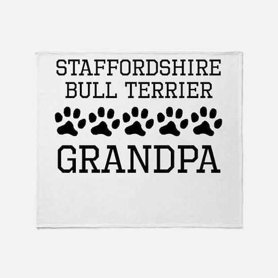 Staffordshire Bull Terrier Grandpa Throw Blanket