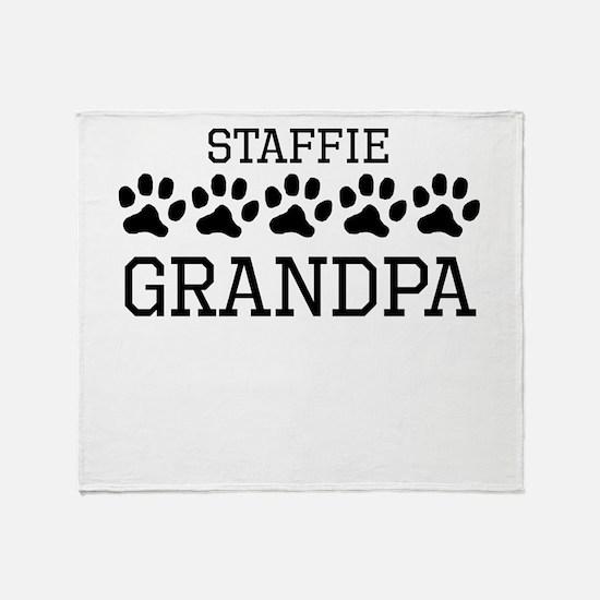 Staffie Grandpa Throw Blanket