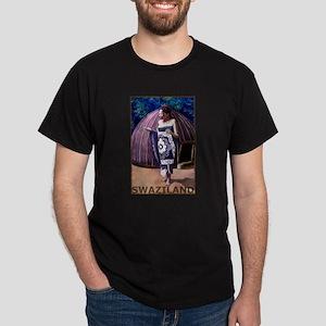 Vintage Swaziland Art Dark T-Shirt