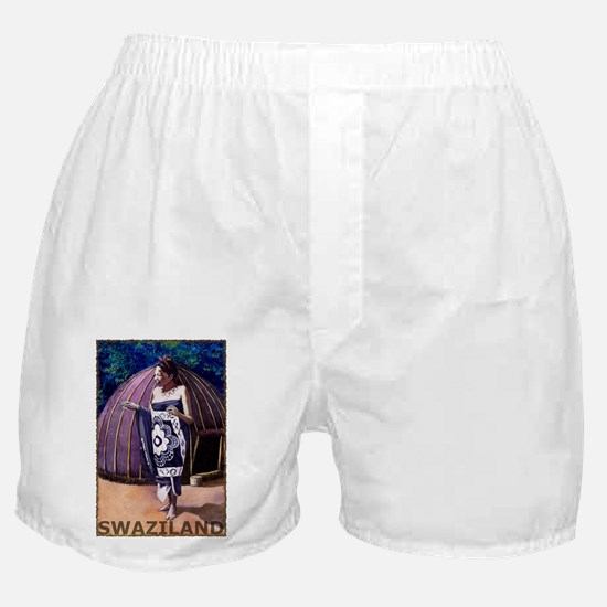 Vintage Swaziland Art Boxer Shorts