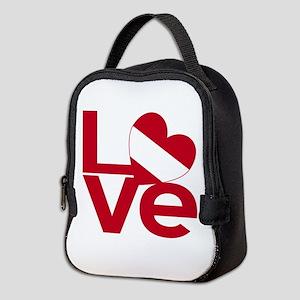 Red Austrian LOVE Neoprene Lunch Bag