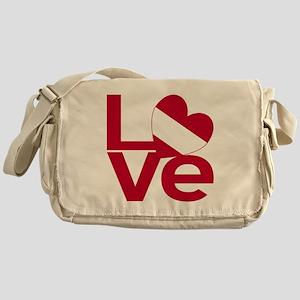 Red Austrian LOVE Messenger Bag