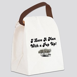 Man with a Pop Up Canvas Lunch Bag