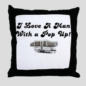 Man with a Pop Up Throw Pillow