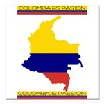 Colombia es pasion Square Car Magnet 3