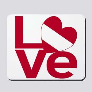 Red Austrian LOVE Mousepad