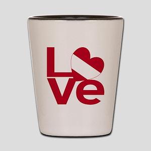 Red Austrian LOVE Shot Glass
