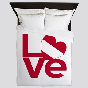 Red Austrian LOVE Queen Duvet