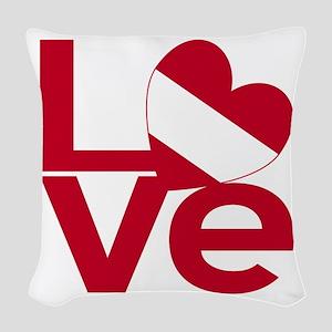 Red Austrian LOVE Woven Throw Pillow