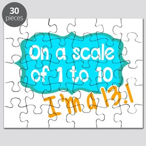 I'm a 13.1 Teal Puzzle