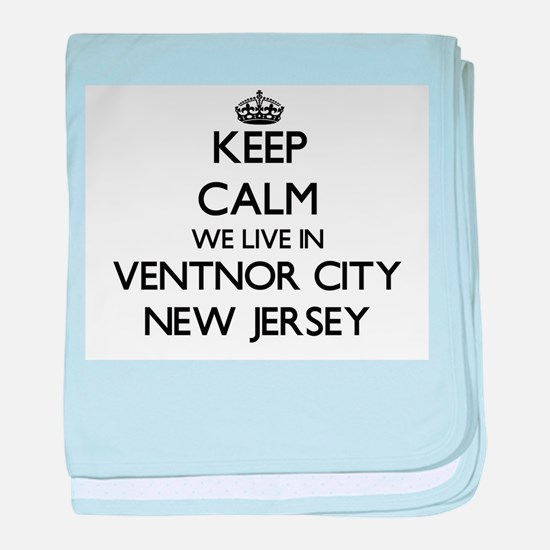 Keep calm we live in Ventnor City New baby blanket