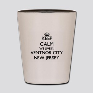 Keep calm we live in Ventnor City New J Shot Glass