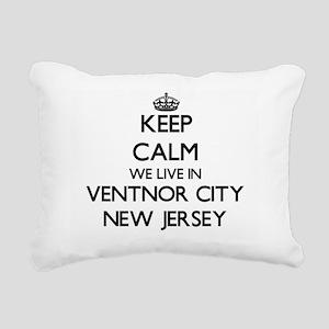 Keep calm we live in Ven Rectangular Canvas Pillow