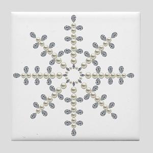 winter snowflake Tile Coaster