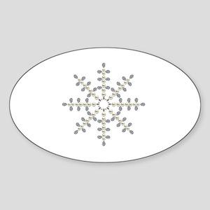 winter snowflake Sticker (Oval)