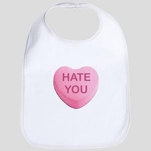 Hate You Candy Heart Bib