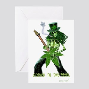 STONED TO THE BONE Greeting Cards