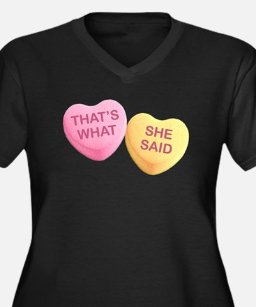 THAT'S WHAT - SHE SAID - Candy H Plus Size T-Shirt
