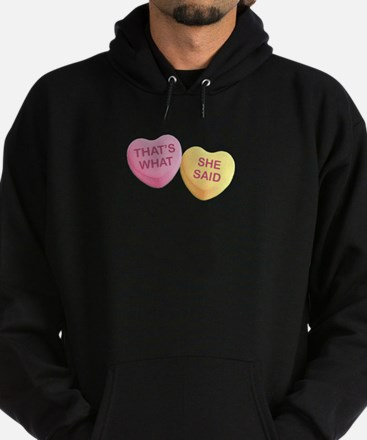 THAT'S WHAT - SHE SAID - Candy Heart Hoodie (dark)