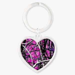 Muddy Girl Heart Keychain