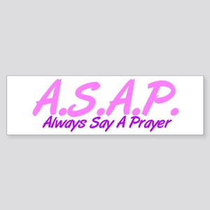 Pink ASAP Bumper Sticker