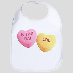 K THX BAI - LOL - Candy Hearts Bib