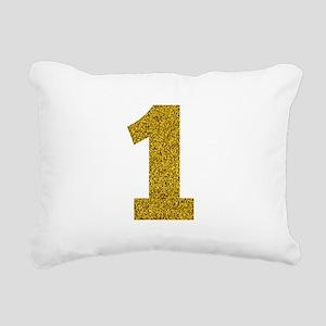 Number 1 Rectangular Canvas Pillow