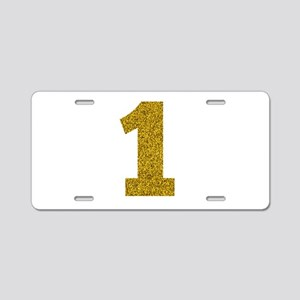 Number 1 Aluminum License Plate