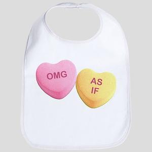 OMG - AS IF - Candy Hearts Bib