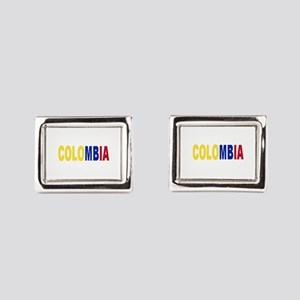 Colombia tricolor name Rectangular Cufflinks