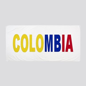 Colombia Tricolor Name Beach Towel