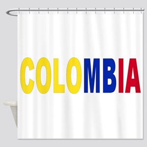 Colombia tricolor name Shower Curtain