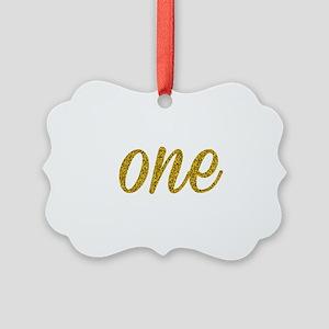 One Script Picture Ornament