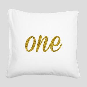 One Script Square Canvas Pillow
