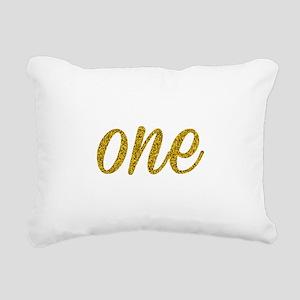One Script Rectangular Canvas Pillow