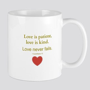 Love is Patient, Love is Kind Mugs