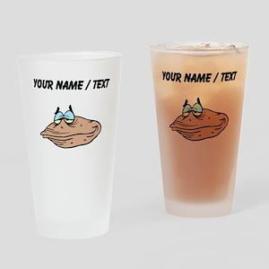 Custom Cartoon Clam Drinking Glass