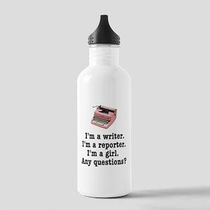 pinktypewriterback Stainless Water Bottle 1.0L
