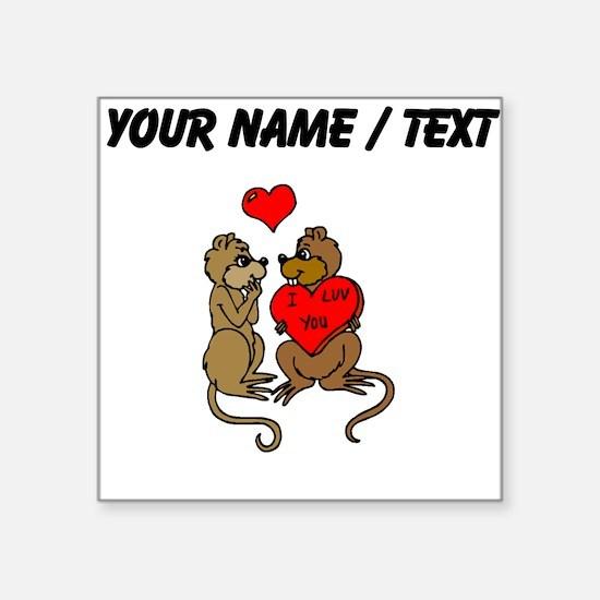 Custom Chipmunks In Love Sticker