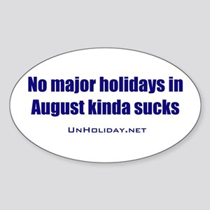 No August Holidays 01 Oval Sticker