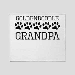 Goldendoodle Grandpa Throw Blanket