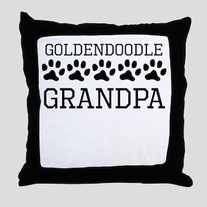 Goldendoodle Grandpa Throw Pillow